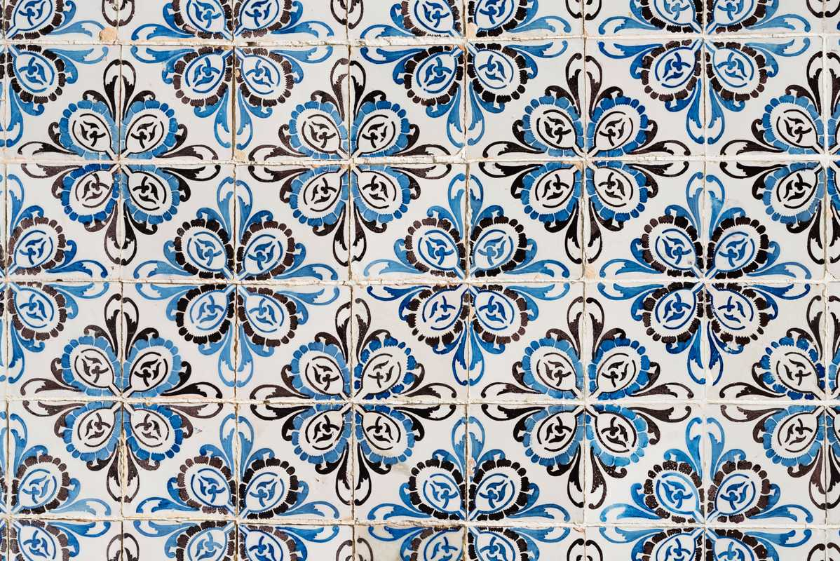 Painterly patterns in Lisbon's Intendente Square