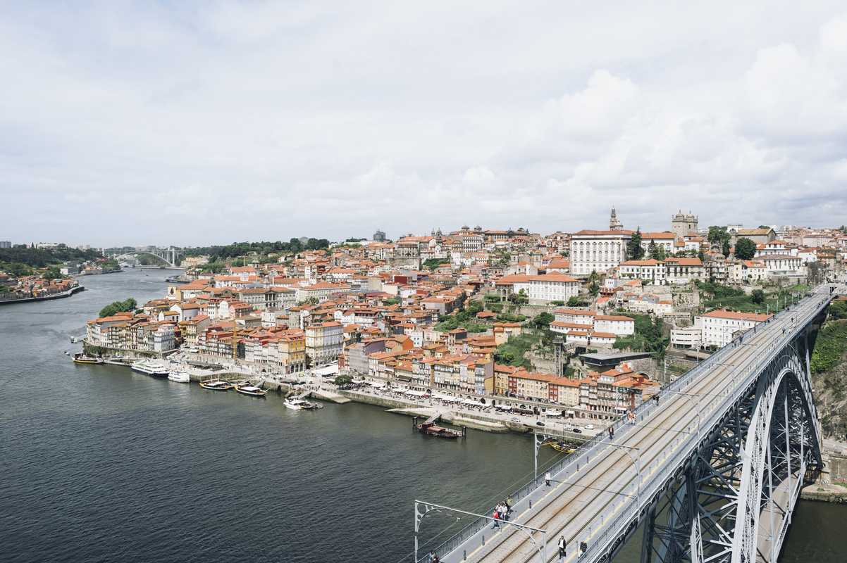 View of Porto from the south side of the River Douro
