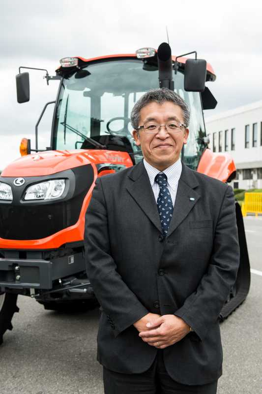 Yasuo Kammuri, Kubota's head of farm machinery for Japan