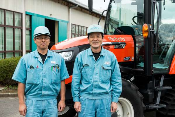 Kubota staff at the Tsukuba factory