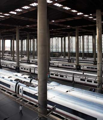The bullet trains of Madrid's Atocha station