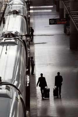 More passengers are opting to take the train rather than fly because of quick journey times