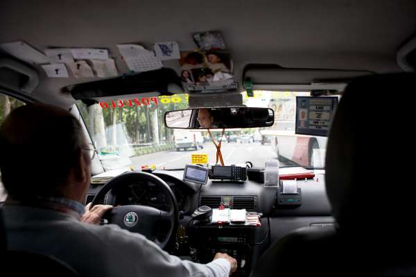 One of Madrid's friendlier taxi drivers