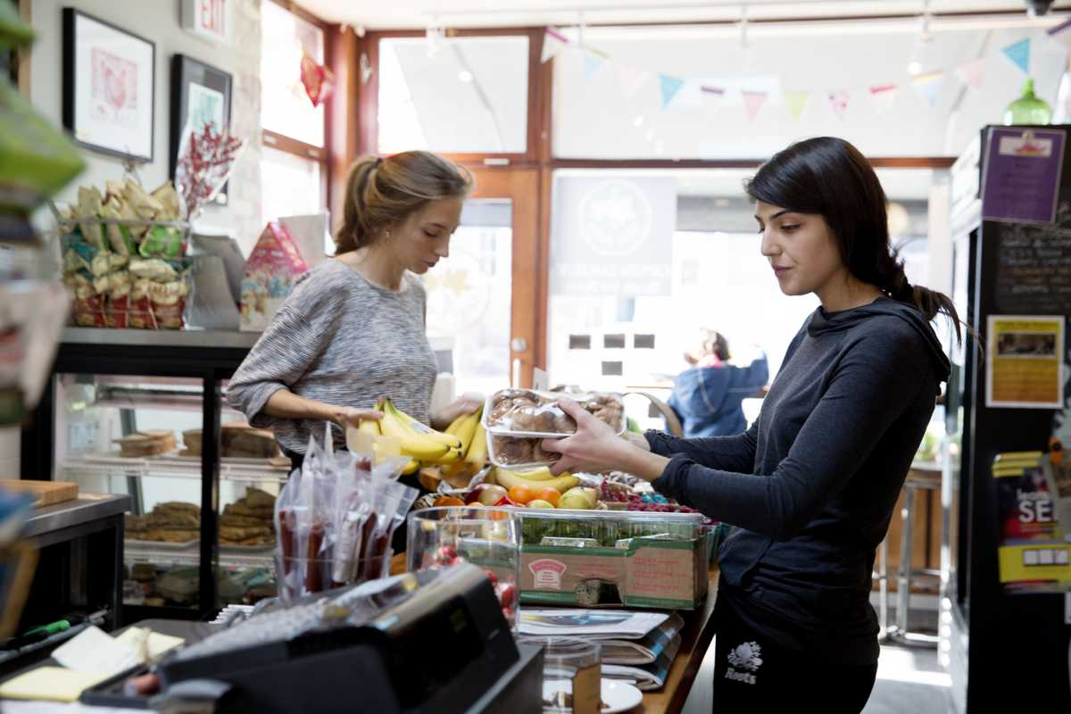 Cashiers play the role of friendly neighbourhood face