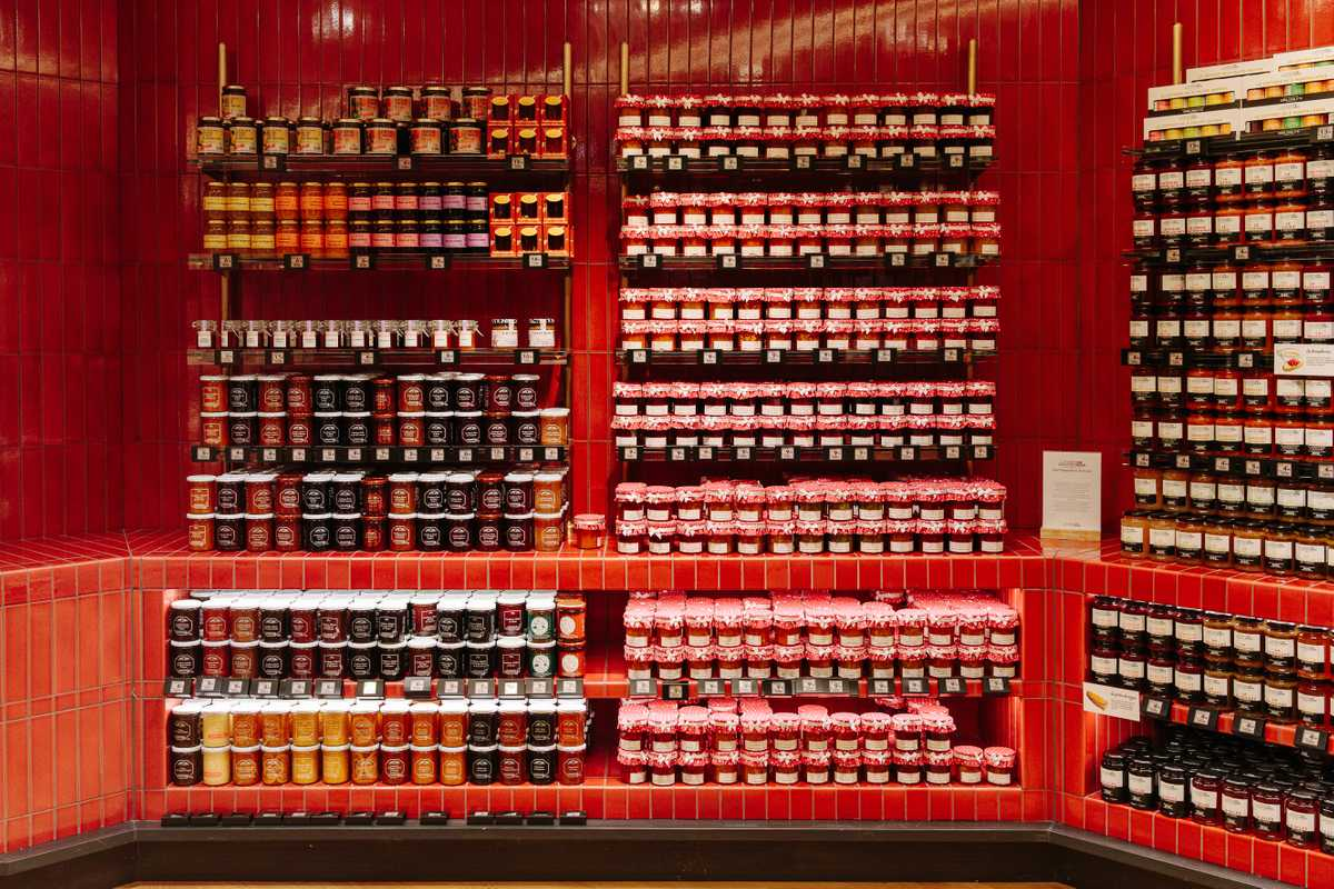 Jam aisle with 350 varieties