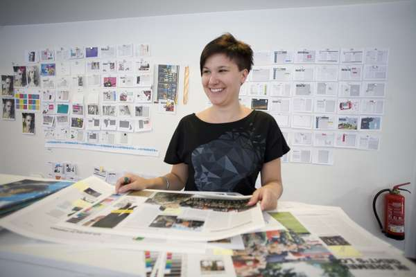 Junior art director Mareike Bongen
