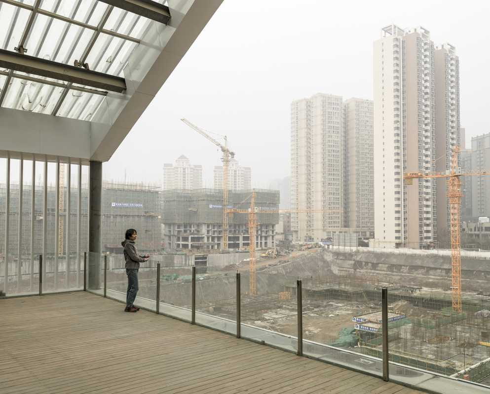 Looking out over construction in Xi'an's Hi-Tech Development Zone