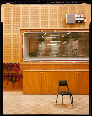 Inside a recording studio