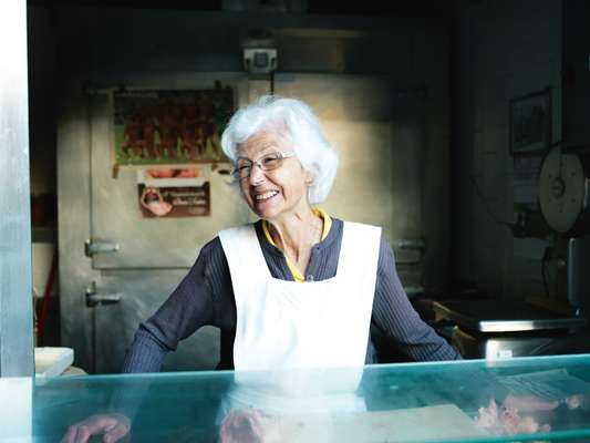 Marilia Brandão, 73, has worked at the market for 64 years