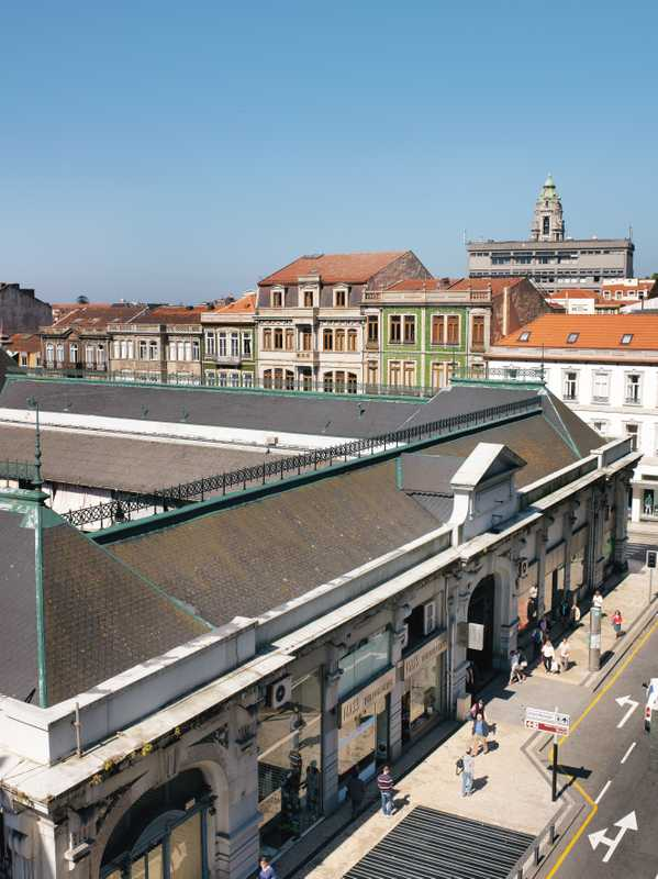 Aerial view of the market