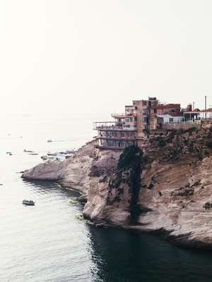 Restaurants overlooking the Raouché coastline