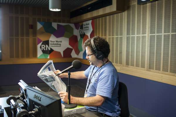 James Carleton, ABC Radio National reporter, talks listeners through the morning papers