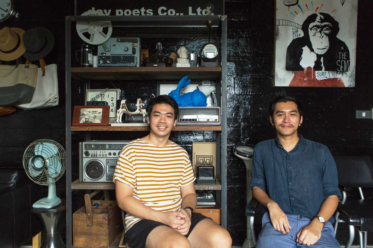 Art directors Jiranarong Wongsoontorn (left) and Bopitr Visetnol from 'A Day' and A Book