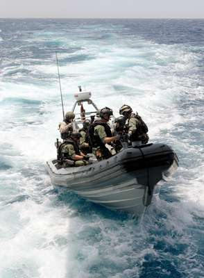 Special forces Frogmen launch Absalon's rhib