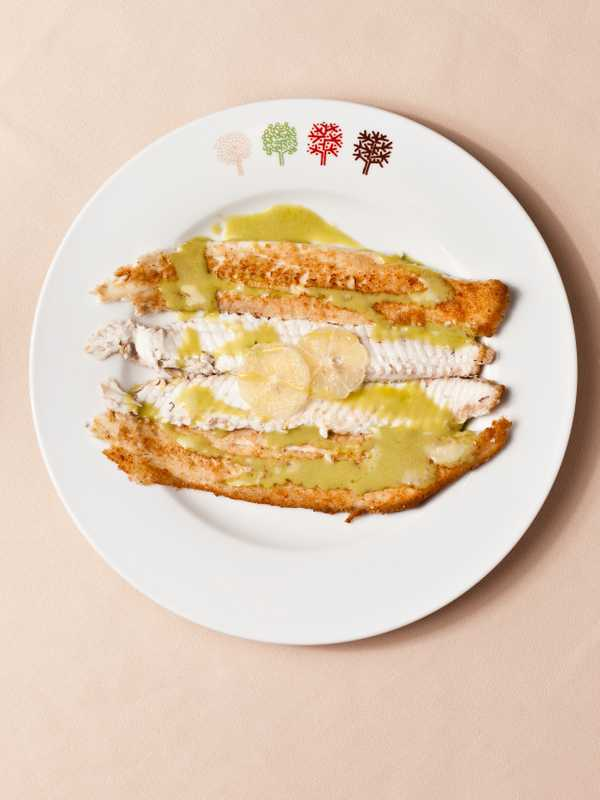 Dover sole with key lime sauce