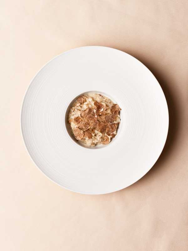 Risotto with white truffles