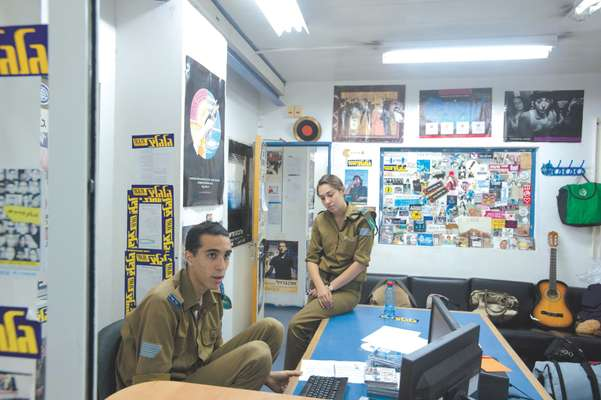 Soldiers Itay Zimmer and Erga Shiloni