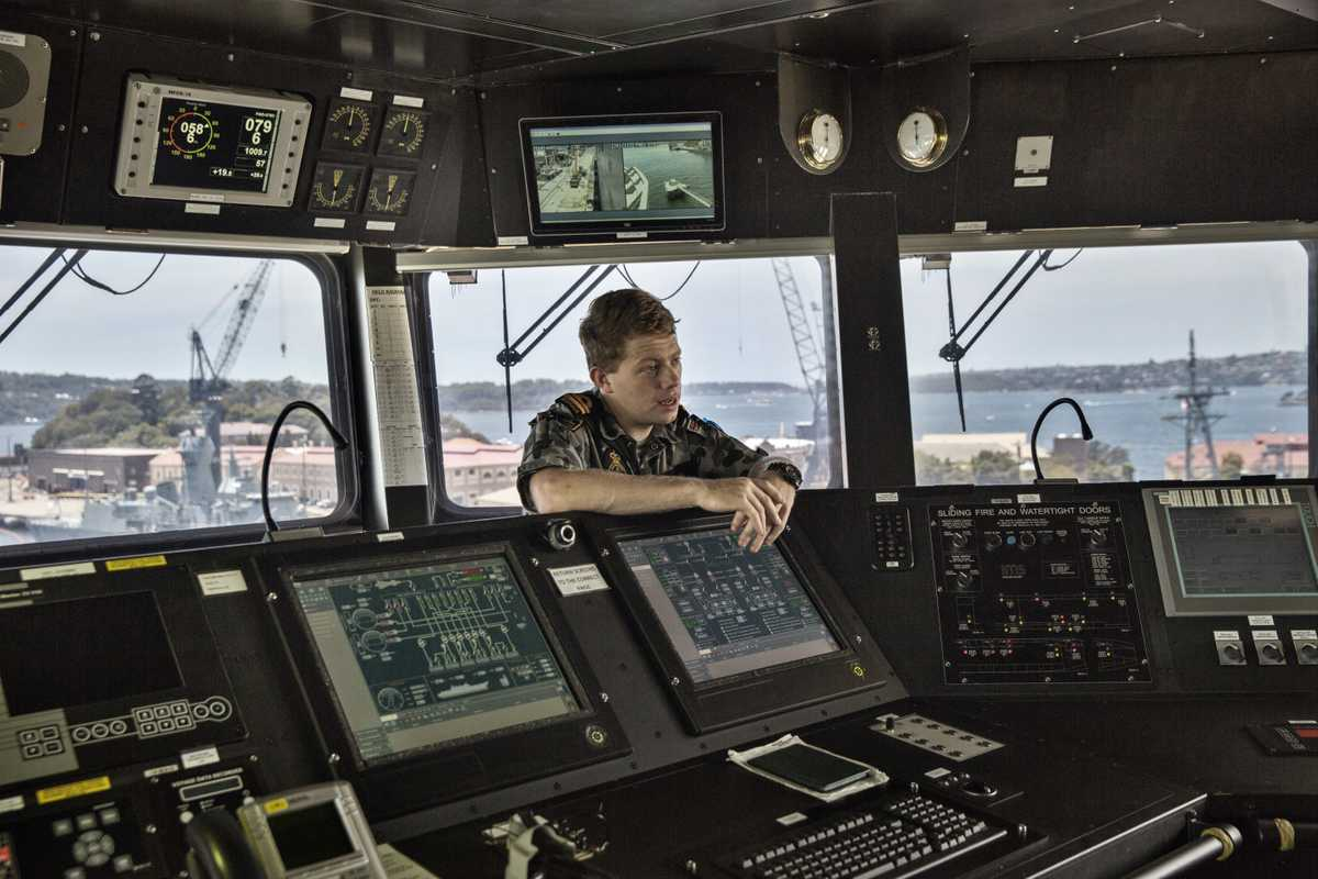 Control systems on the ship's bridge