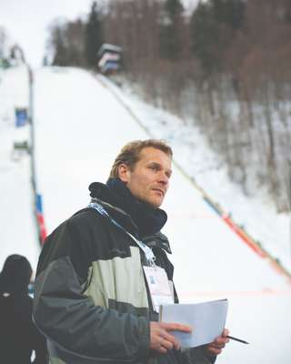 Thomas Hahn at a ski-jumping competition in Oberstdorf, Germany