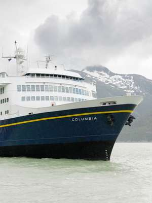 M/V Columbia arrives in Skagway
