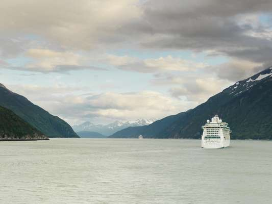 Cruise ships head south down the Lynn Canal