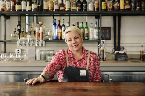 Trish, a bartender at Campo