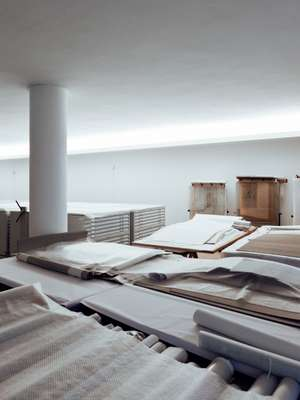 The archive room at Siza's office building