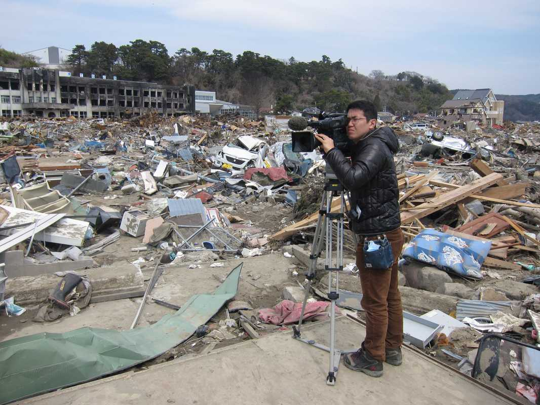 Filming the tsunami aftermath
