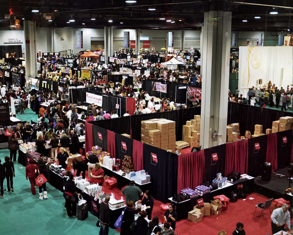 A bird's-eye view of the exhibition hall
