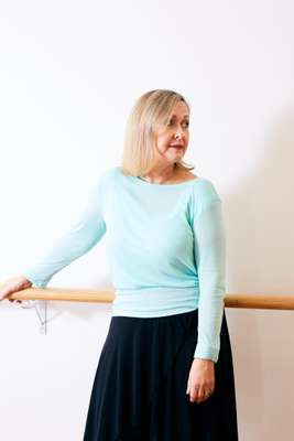 Kathleen Curwen-Walker takes a break at the barre