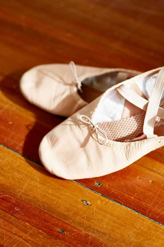 These shoes are made for ballet