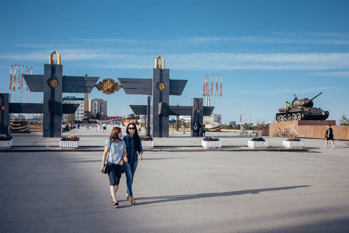 Second World War Memory Alley in Yakutsk