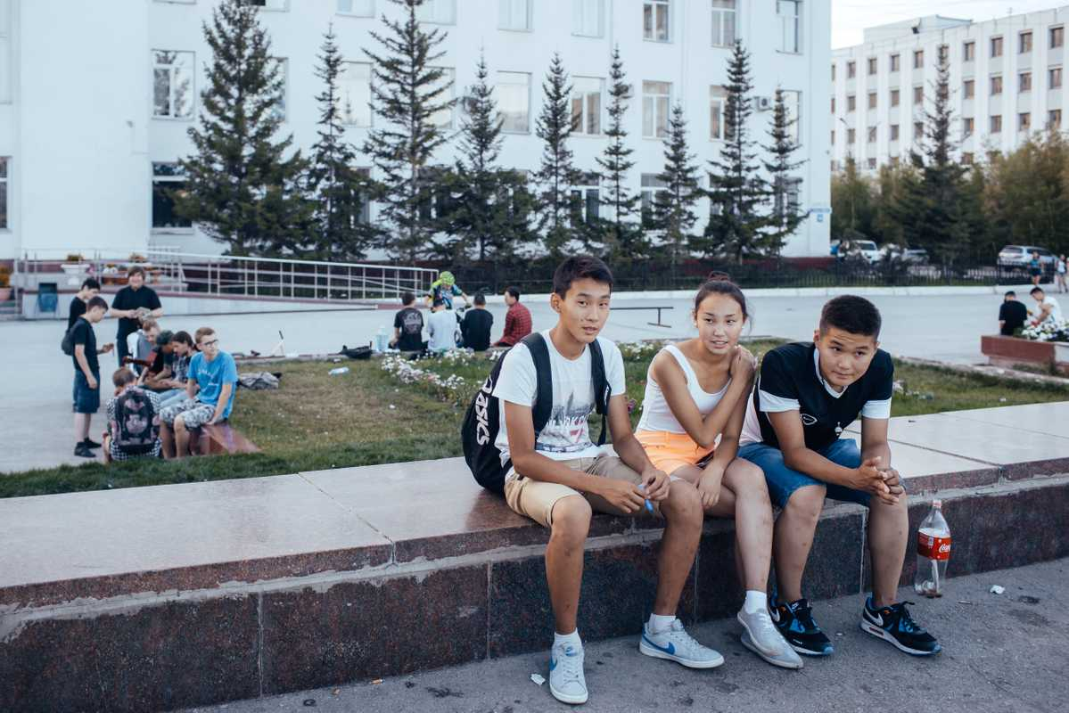 Central square of Yakutsk
