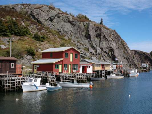 Boathouses in the Quidi  Vidi district