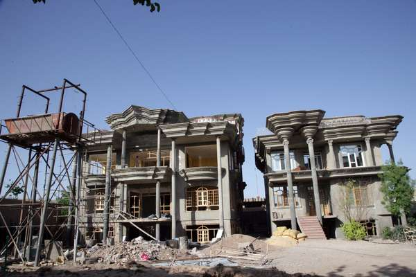 Another two concrete mansions for Nasiri family members go up