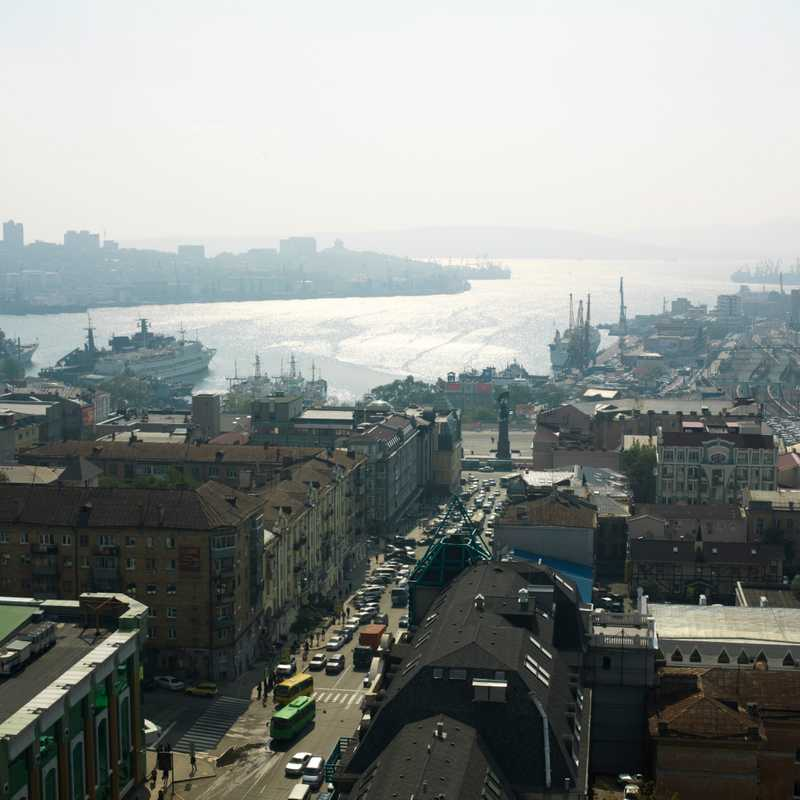 View towards harbour of Vladivostok