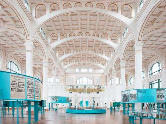 The Salone degli Incanti exhibition hall housed in the former fish market