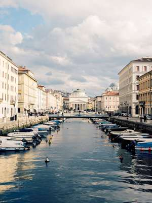 Canal Grande looking towards the 19th-century Sant'Antonio Nuovo church