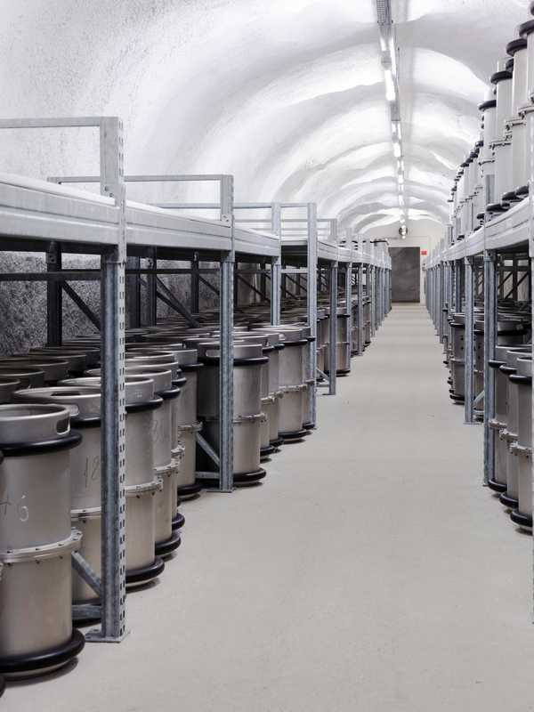 The archive stores 32,000km of microfilm