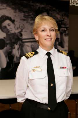 Lieutenant Commander Barb Woodruff, senior military recruiting officer