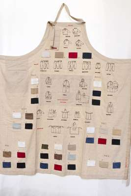 Barena's first collection on an apron from 2001