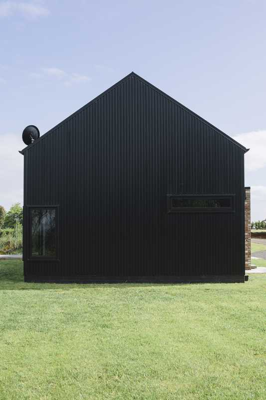 Corrugated steel was used to reflect the barn's rural roots