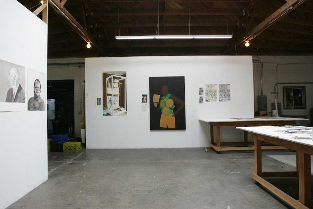 View of Wood's studio
