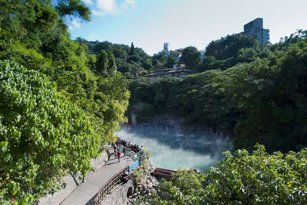 Beitou's hot springs draw tourists from all over Asia