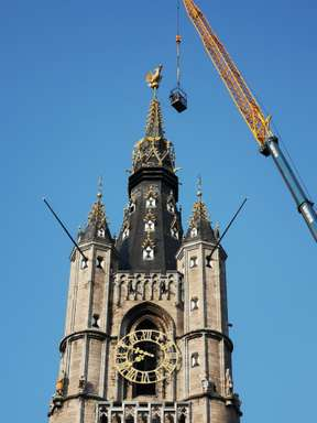 Constructing a belfry in Ghent