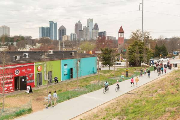 The BeltLine leading to Piedmont Park and downtown Atlanta