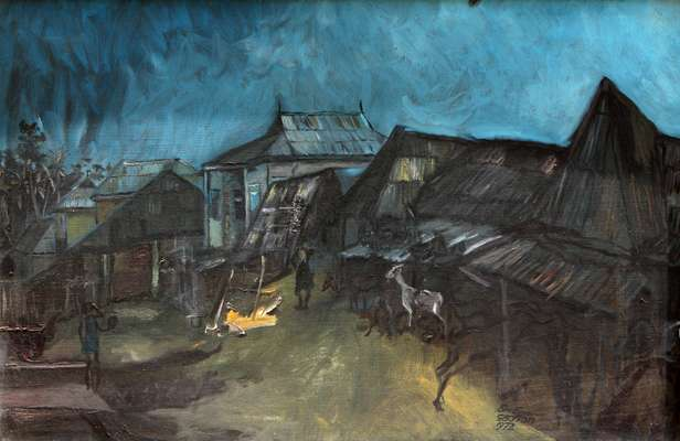 Gbongan, Ben Enwonwu, 1972, oil on canvas
