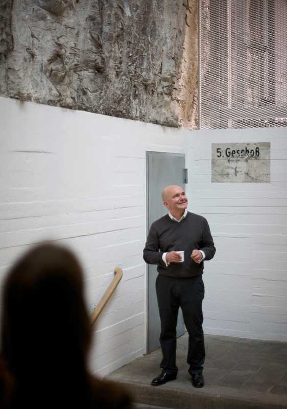 Christian Boros at his gallery in a former Nazi bunker
