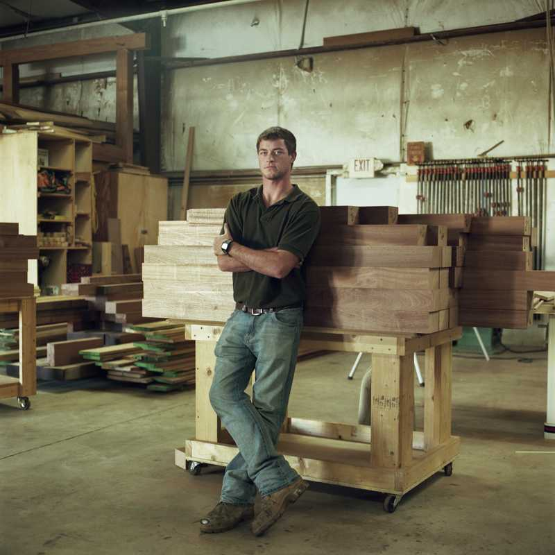 Peter McGinnis, class of 2012, carpentry