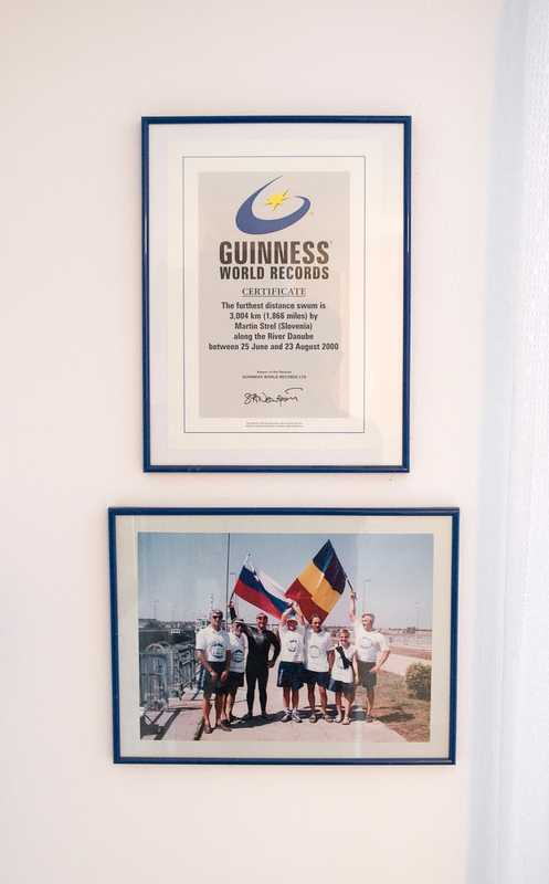 One of Strel's four Guinness World Records, this one for swimming the Danube in 2000